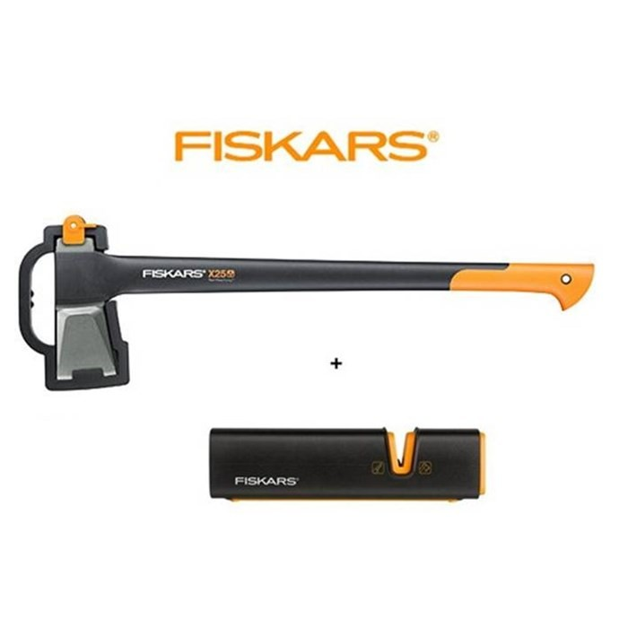 2 teiliges set fiskars spaltaxt x25 sch rfer xsharp fiskars produkte. Black Bedroom Furniture Sets. Home Design Ideas